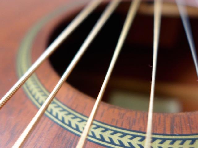 Détail guitare Folk Martin