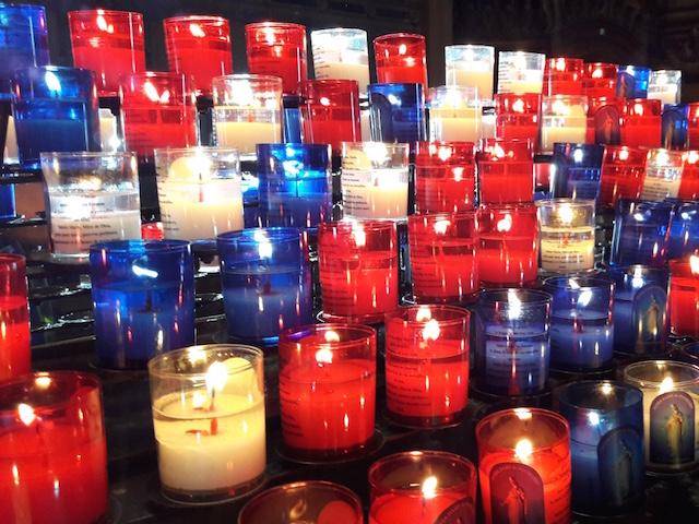 bougies hommage